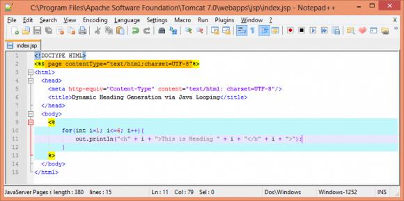 Notepad++ Configuration for JSP Development