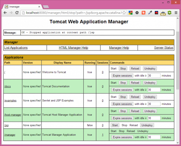 Tomcat Web Application Manager - Core JSP in Hindi - BccFalna.com
