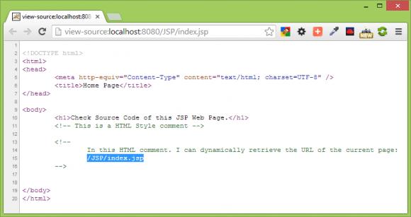 Comment Statement in JSP - Core JSP in Hindi - BccFalna.com