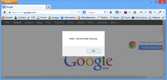 Developer Tools Console of Web Browser for JavaScript - jQuery Debugging in Hindi