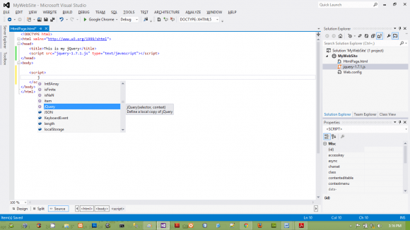 jQuery in Visual Studio - Configure VS for JavaScript - jQuery in Hindi