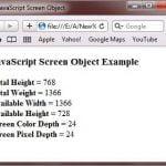 screen Object in JavaScript in Hindi - BccFalna.com