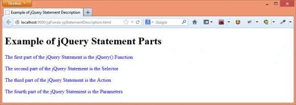 jQuery Statement with Simple Example - jQuery in Hindi