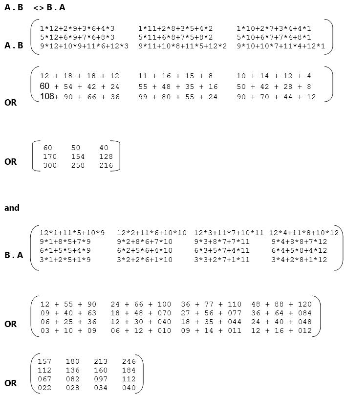 Algebra of Matrix - Matrix Multiplication - Data Structure using C Language